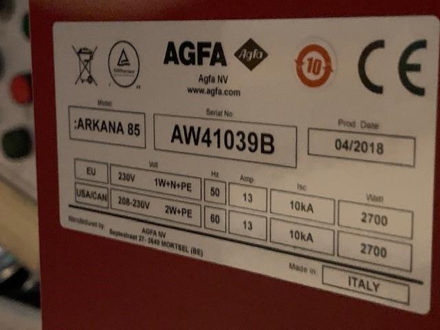 arkana 85 machine plate